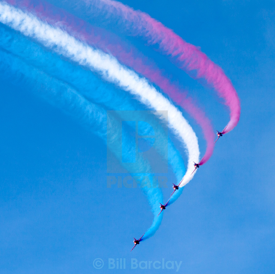 """Five Red Arrows"" stock image"