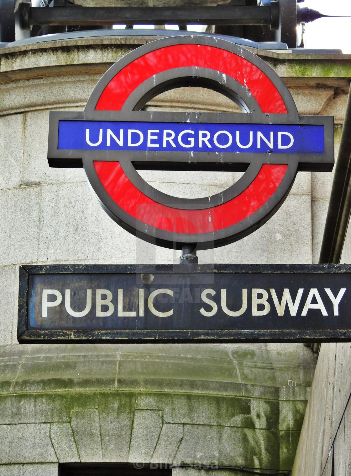 """""""Underground Public Subway"""" stock image"""