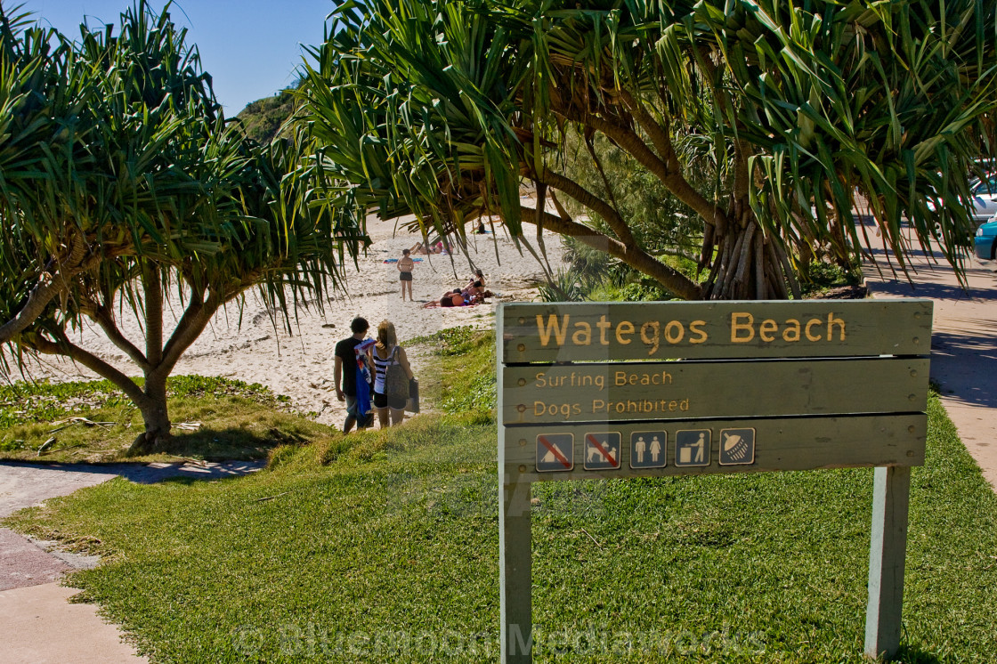"""Wategos Beach"" stock image"
