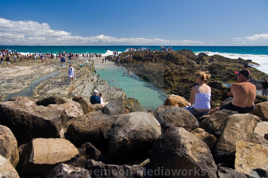 """Snapper Rocks—Qld Australia #2"" stock image"