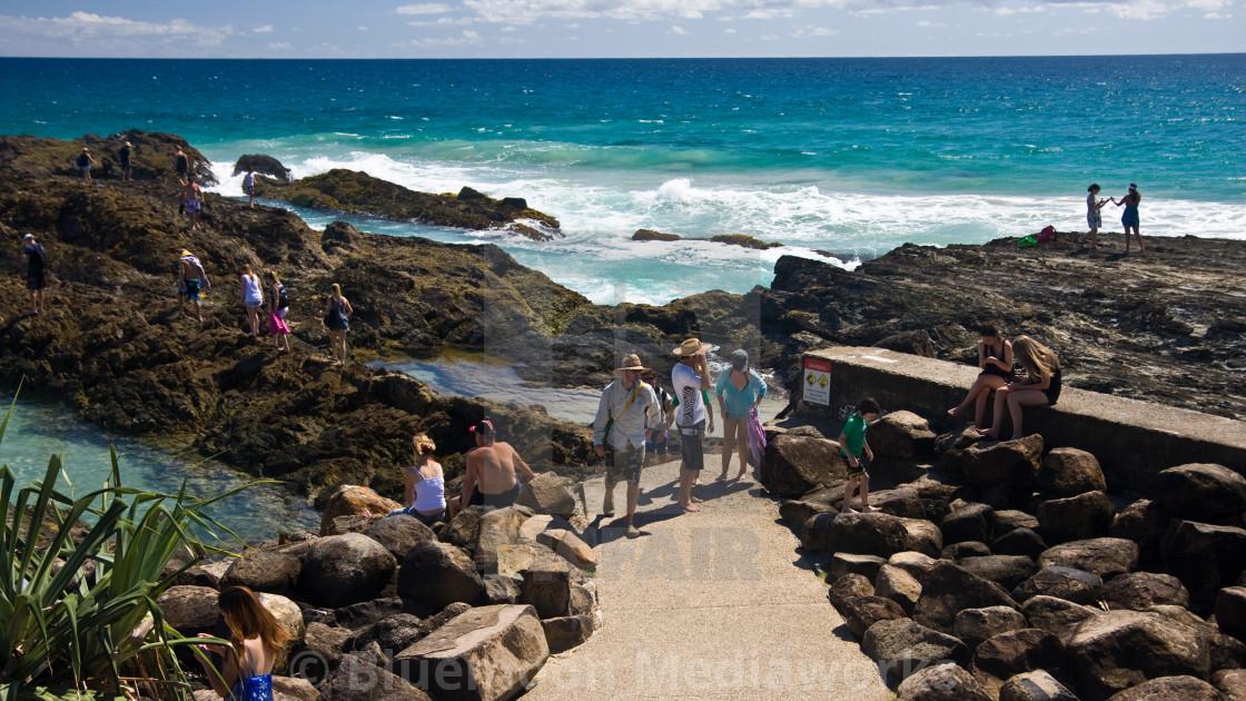 """Snapper Rocks—Qld Australia #1"" stock image"