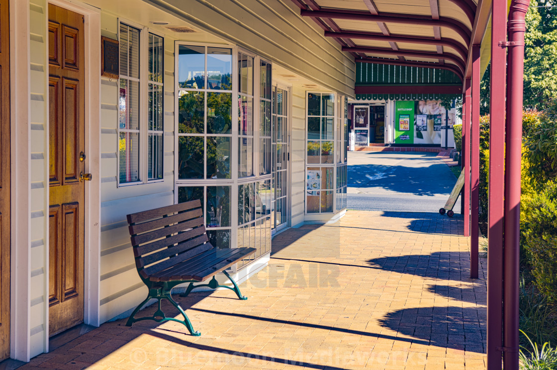 """""""Modified Queenslander commercial architecture"""" stock image"""