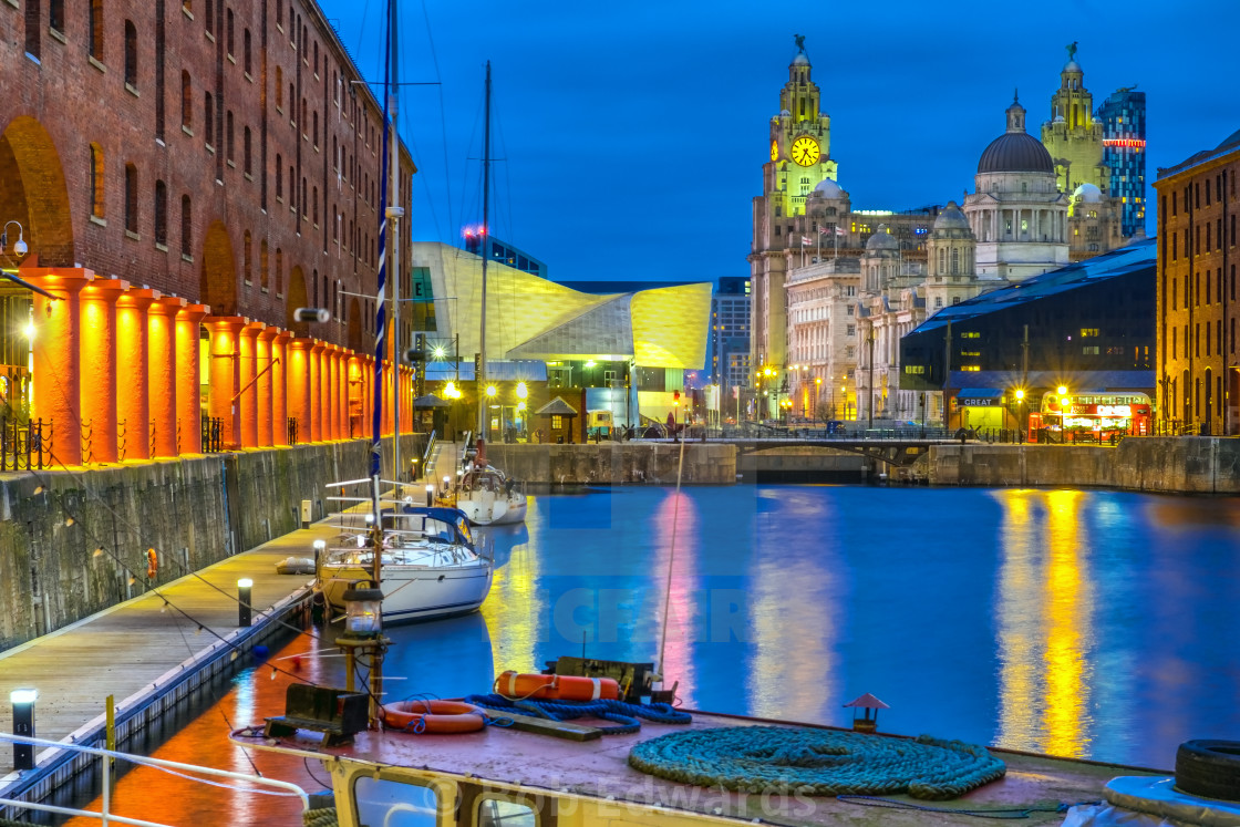"""Royal Albert Dock, Liverpool"" stock image"