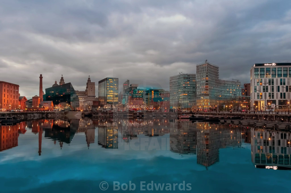 """""""Liverpool ONE from Salthouse Dock"""" stock image"""