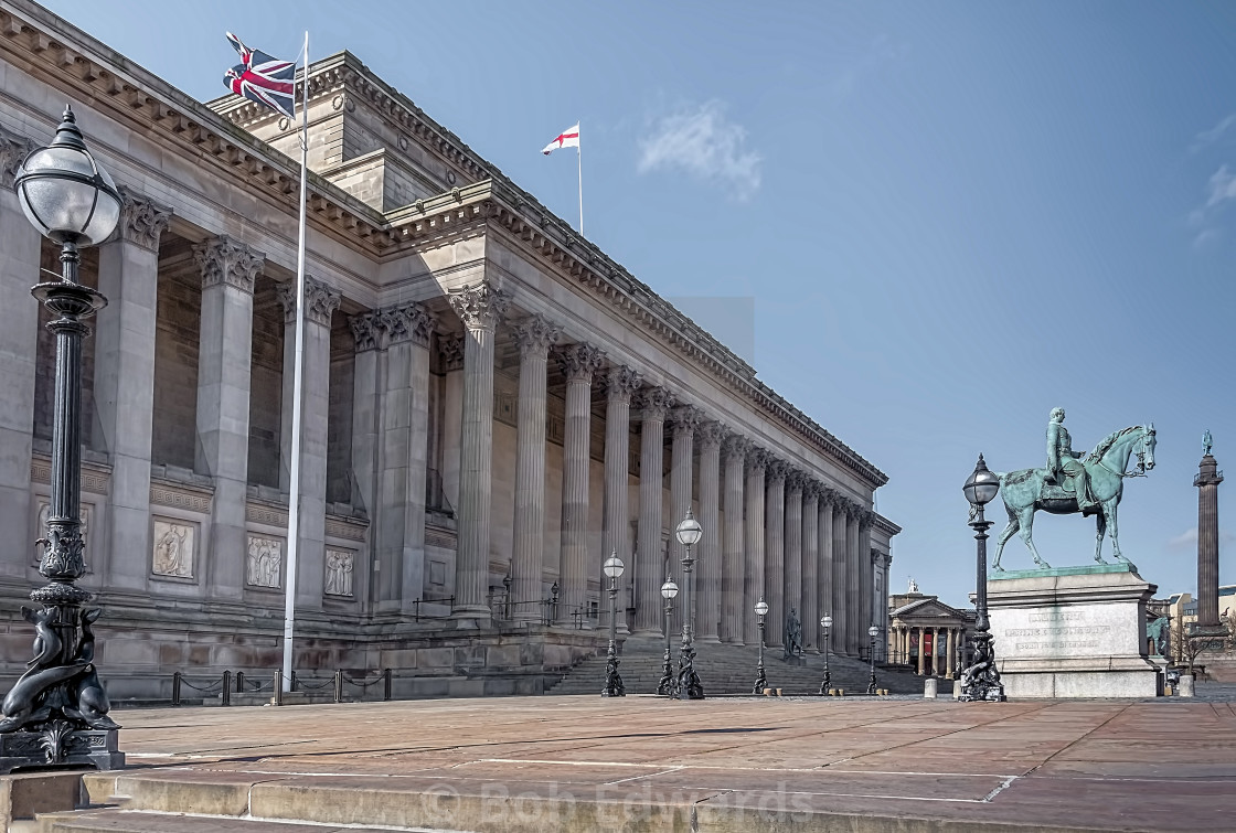 """St George's Hall, Lime Street, Liverpool"" stock image"