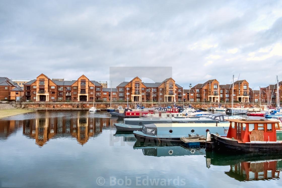 """Liverpool Marina, Coburg Dock"" stock image"