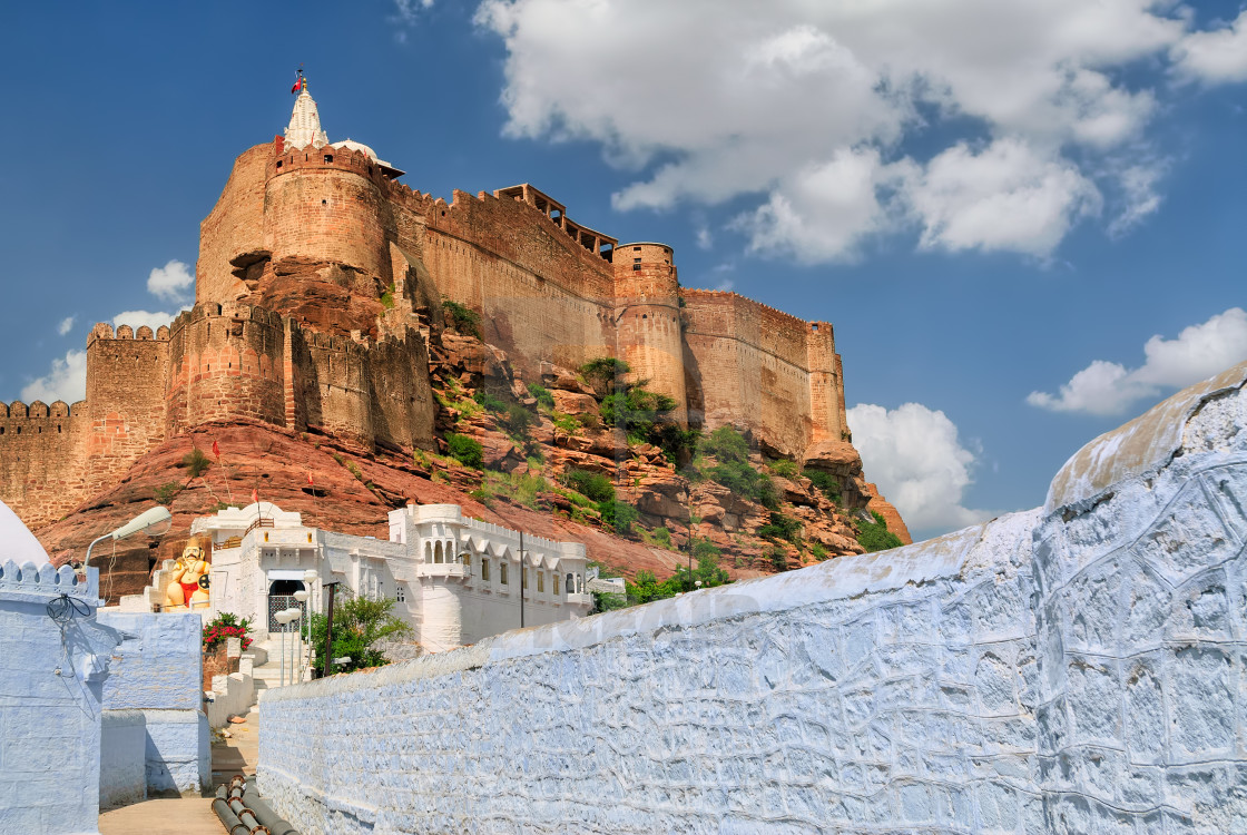 """Mehrangarh Fort in Jodhpur, Rajasthan, India"" stock image"