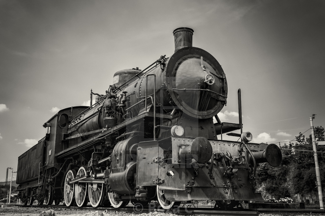"""Old locomotive"" stock image"