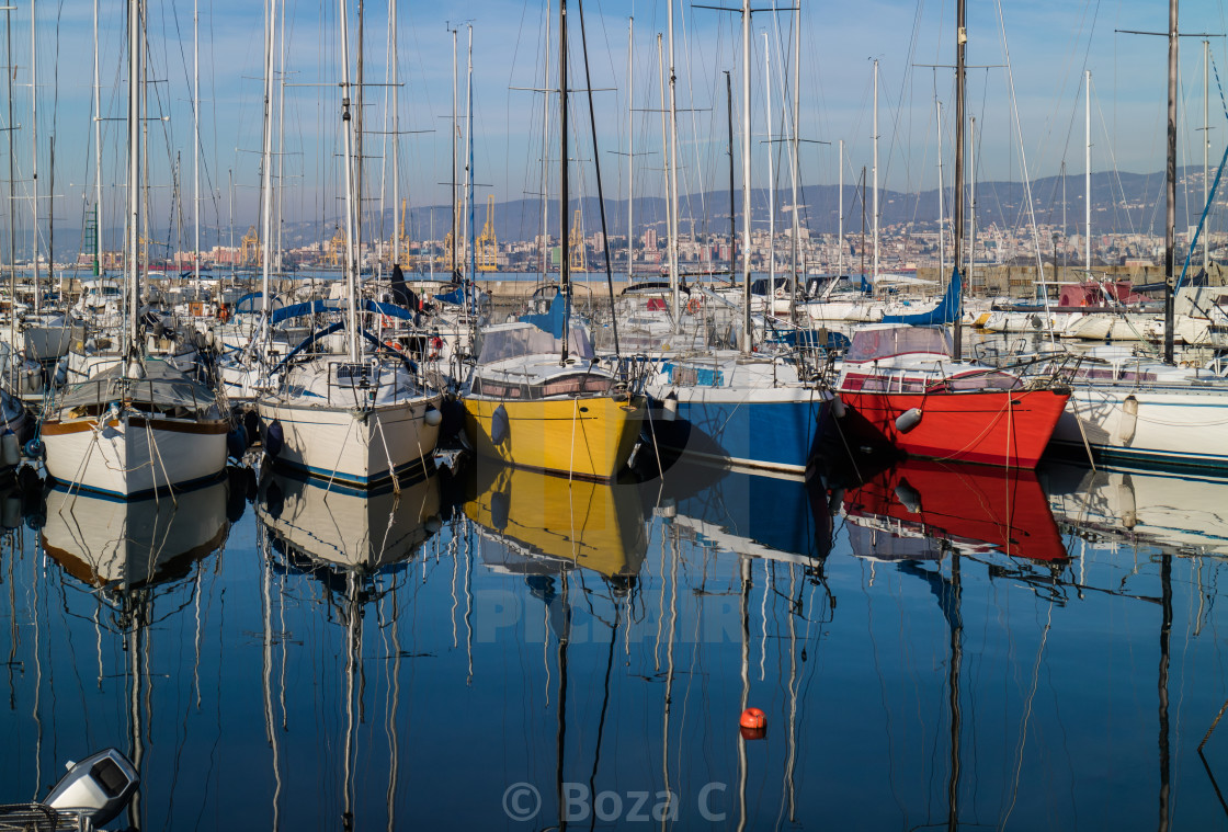 """""""Colorful boats"""" stock image"""
