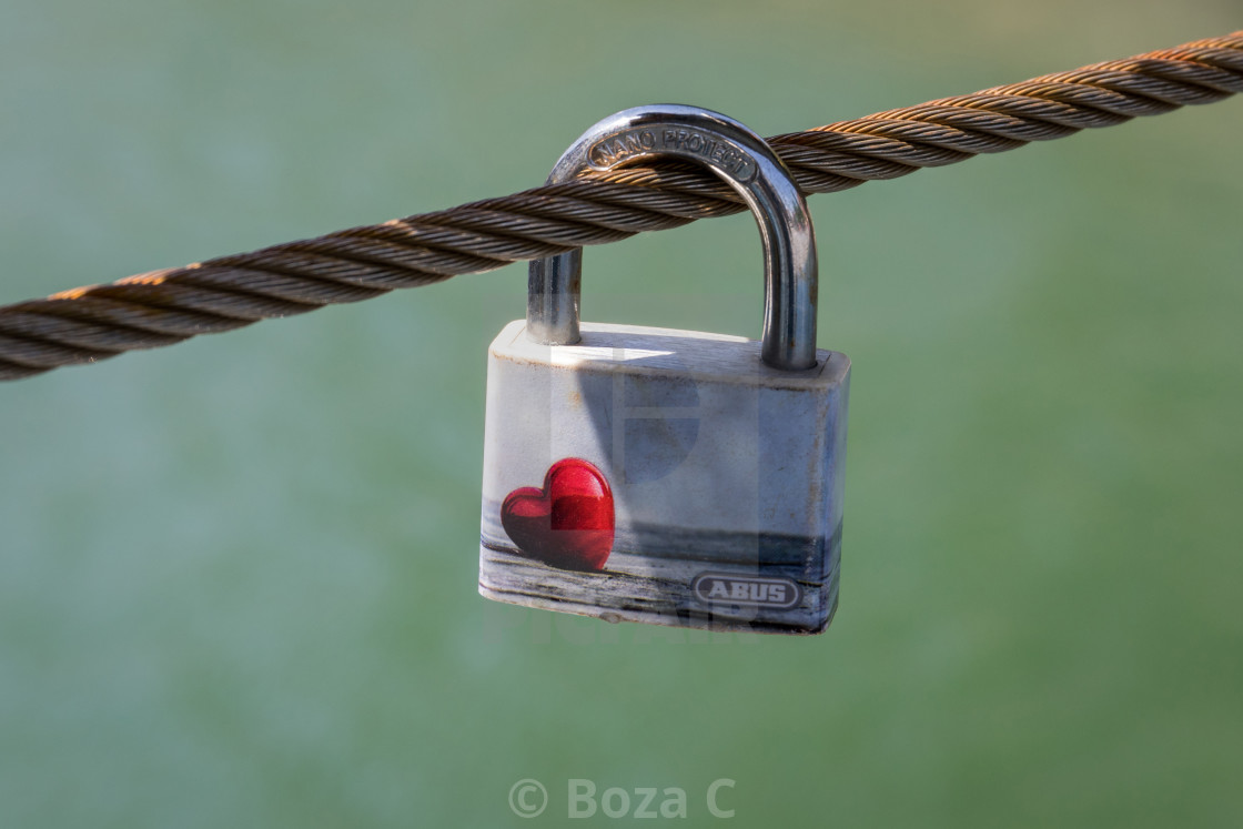 """Love lock"" stock image"