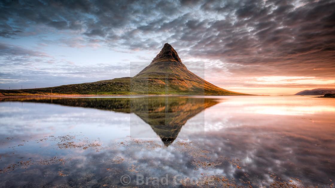 """Kirkjufell Mountain Sunrise"" stock image"