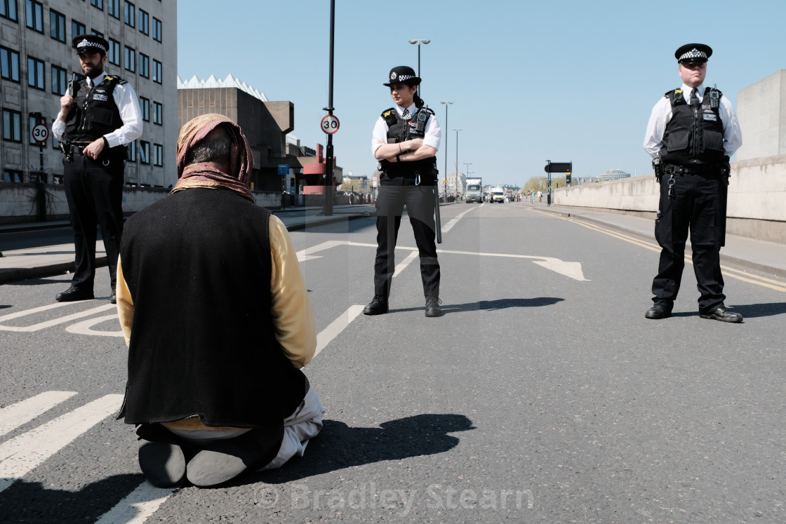 """Extinction Rebellion Waterloo Bridge"" stock image"
