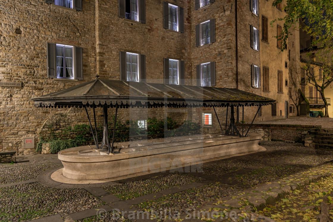 Ancient public wash-house in via Lupo in Bergamo Alta