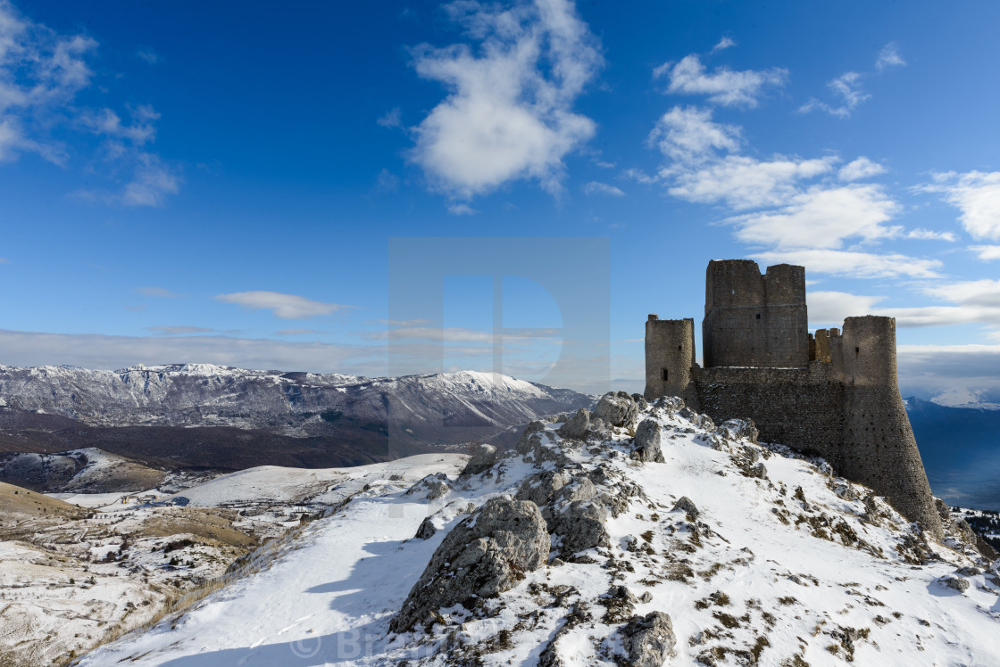 Ancient fortress in the Abruzzesi mountains