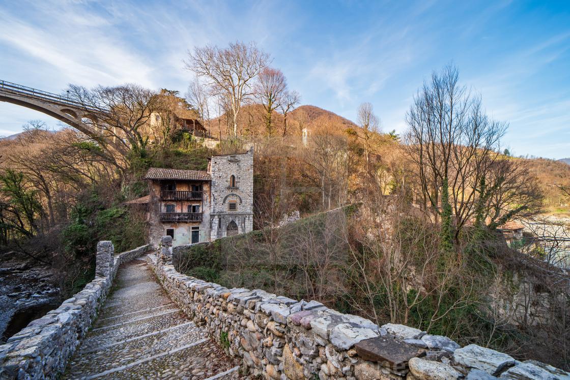 Attone bridge and ancient customs house of Clanezzo