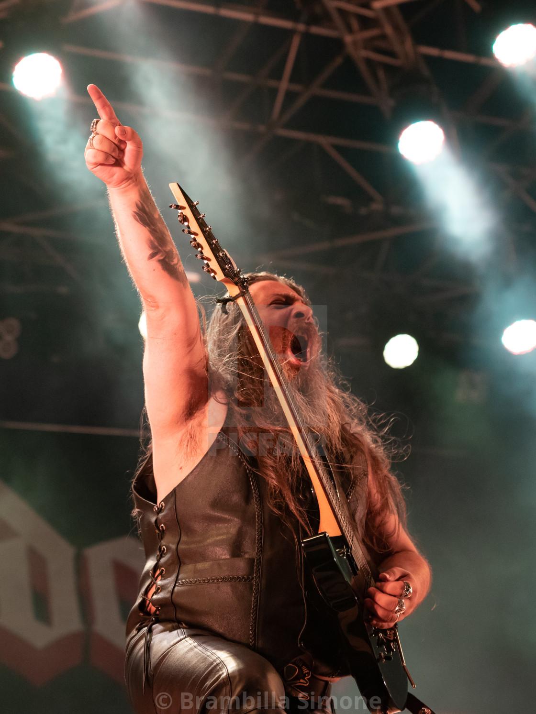 """BULLDOZER at Metal for Emergency 2018"" stock image"