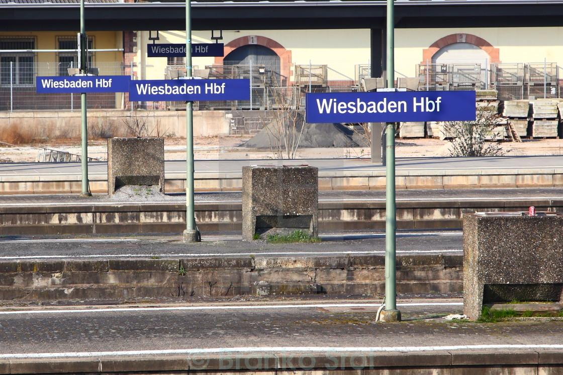 """""""Wiesbaden Hbf"""" stock image"""
