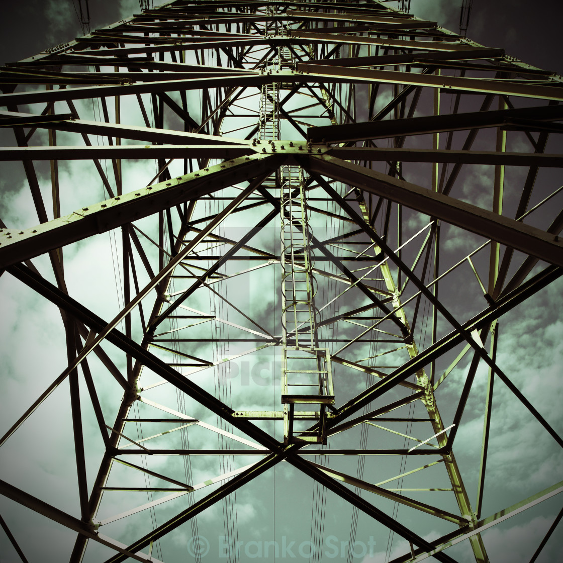 """Transmission Tower # 4"" stock image"