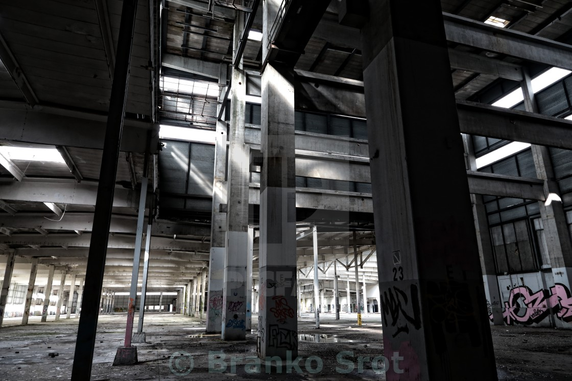 """abandoned factory 3"" stock image"