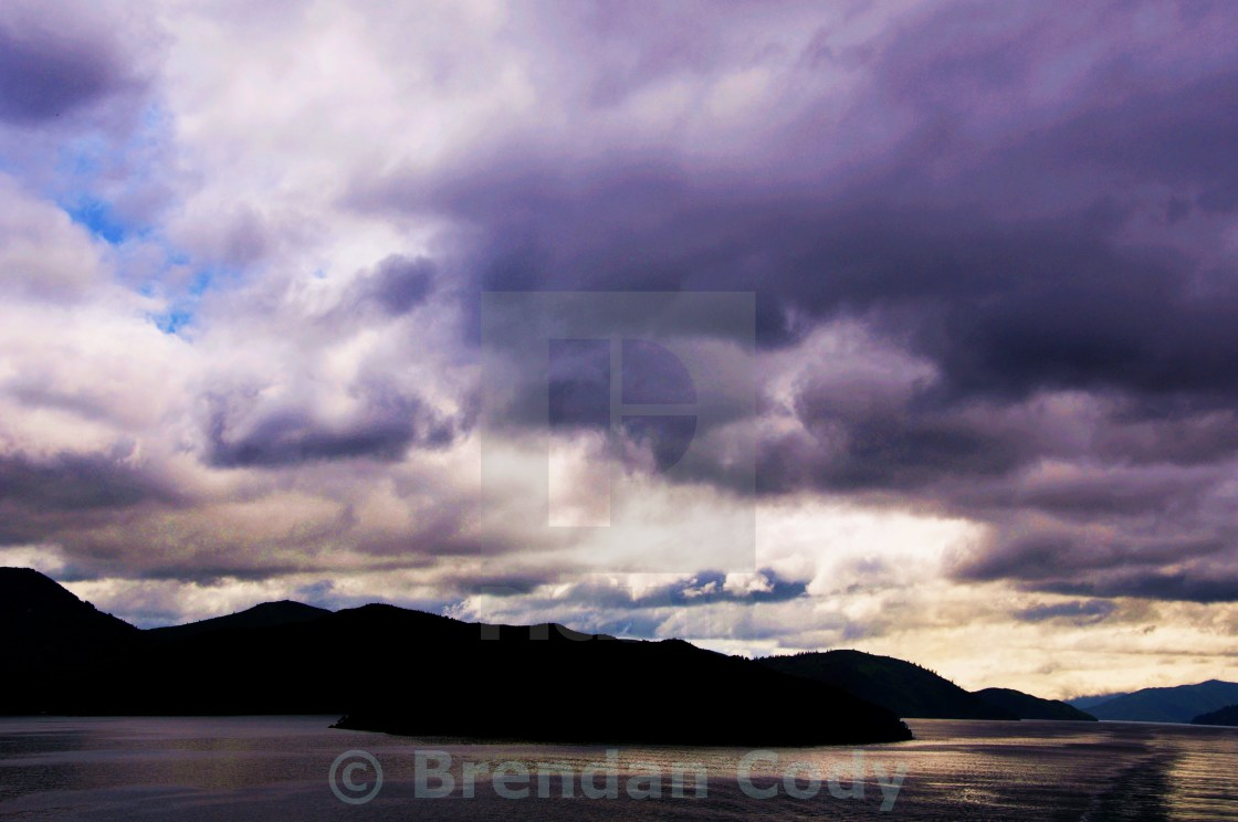 """Marlborough Sounds"" stock image"