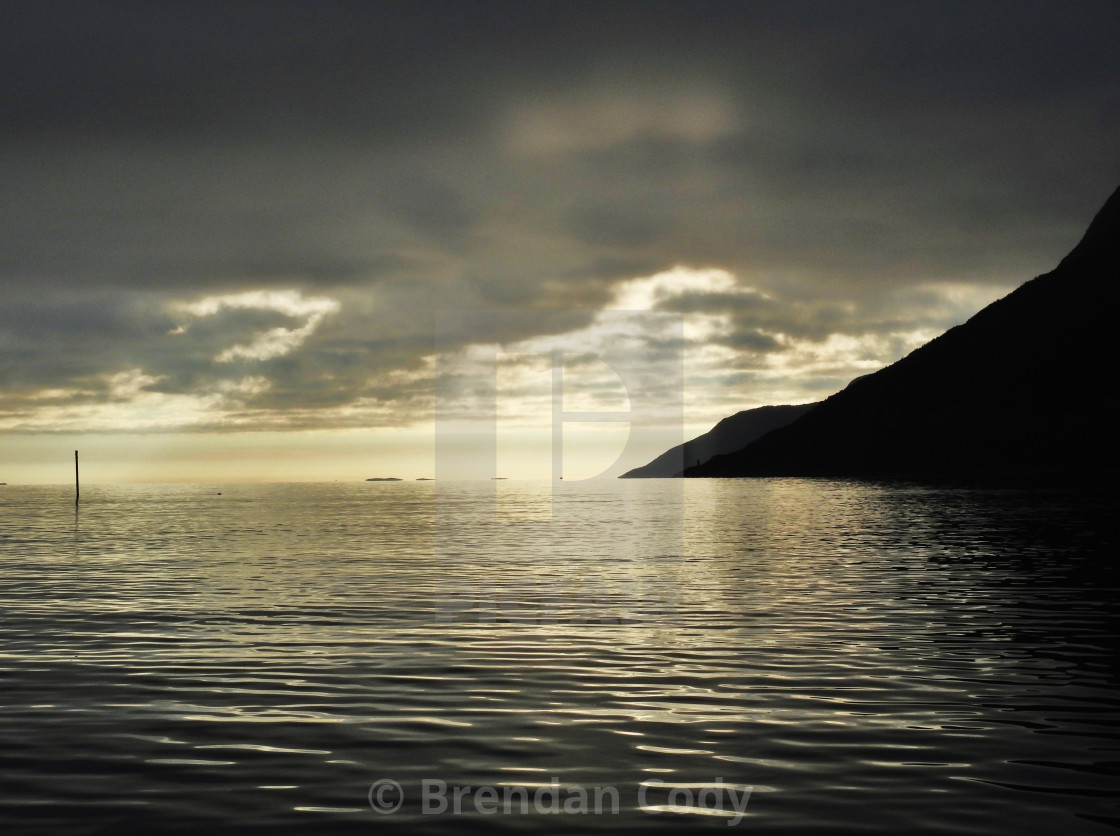 """Arctic Fjords"" stock image"