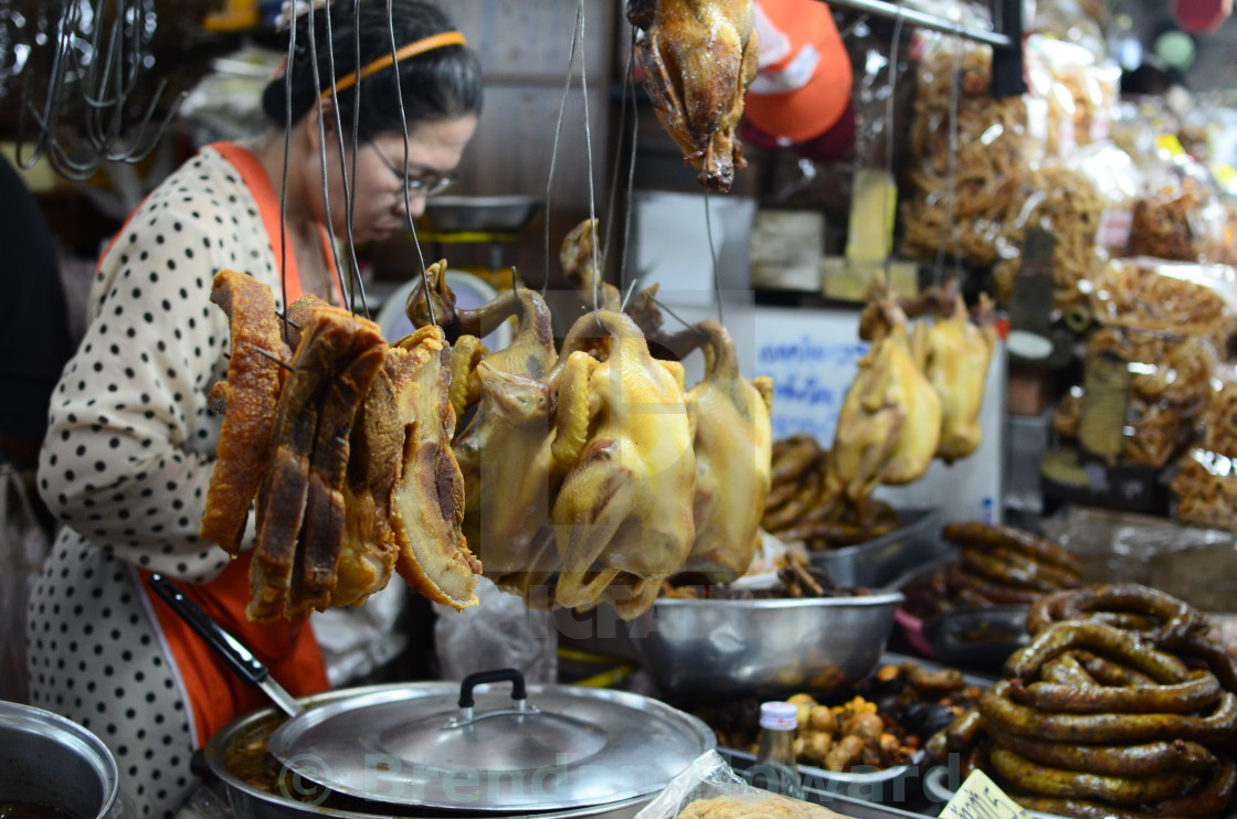 """Chiang Mai Market, Thailand"" stock image"