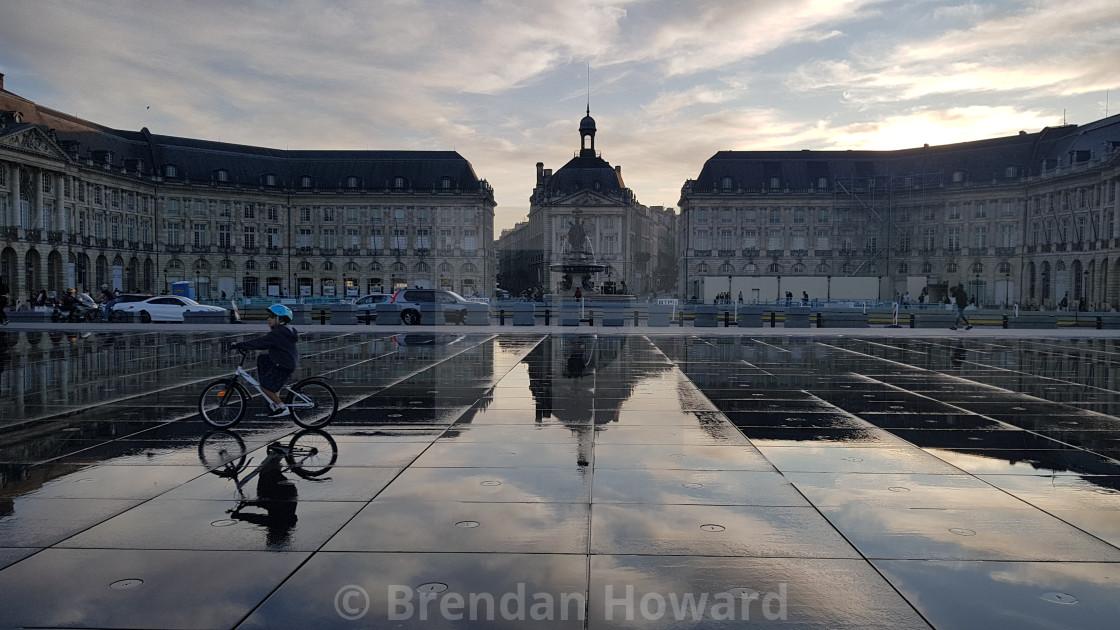 """""""Place de la Bourse, Bordeaux"""" stock image"""