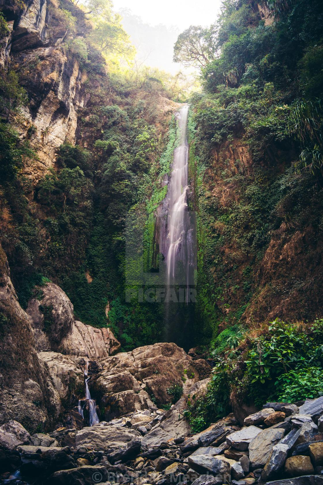 """""""Annapurna Waterfall"""" stock image"""