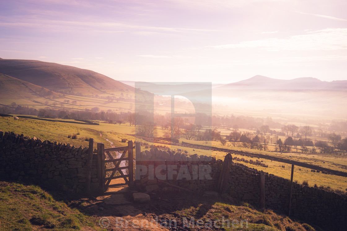 """""""Edale Valley"""" stock image"""