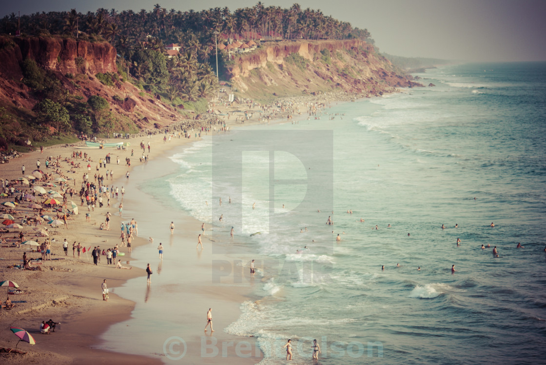 """The beach at Varkala, India"" stock image"