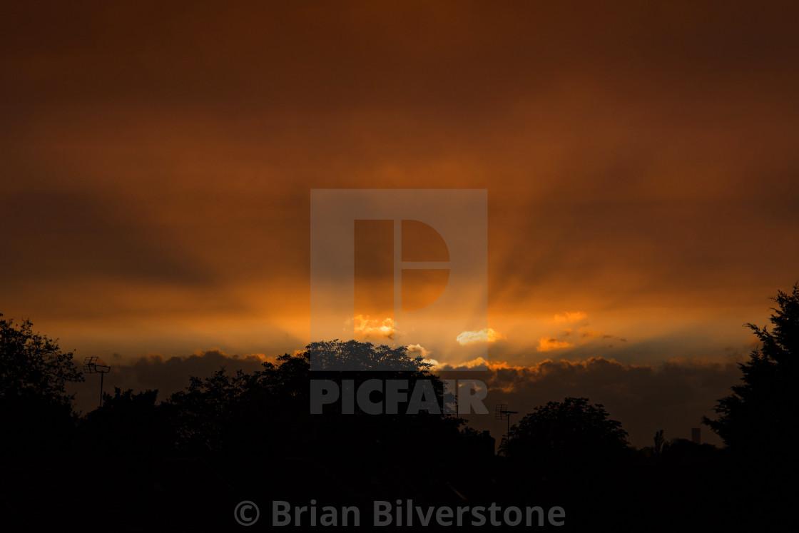 """""""Sandstorm Sunset"""" stock image"""
