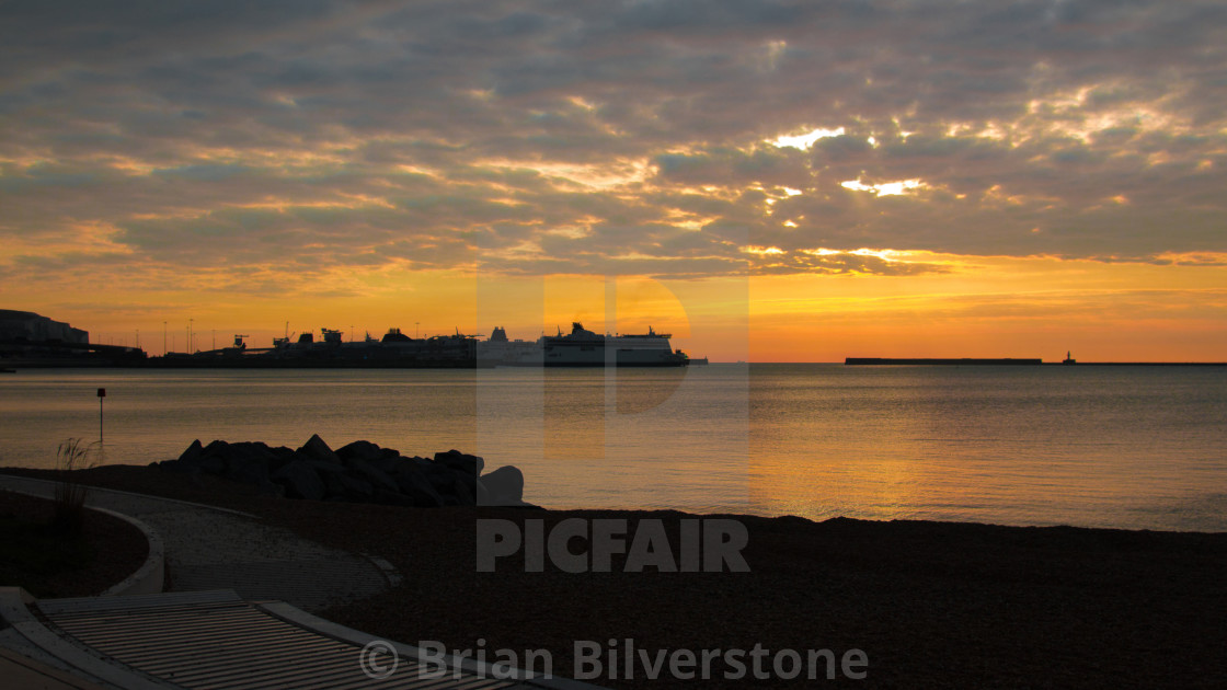 """Ferryport Dawn"" stock image"