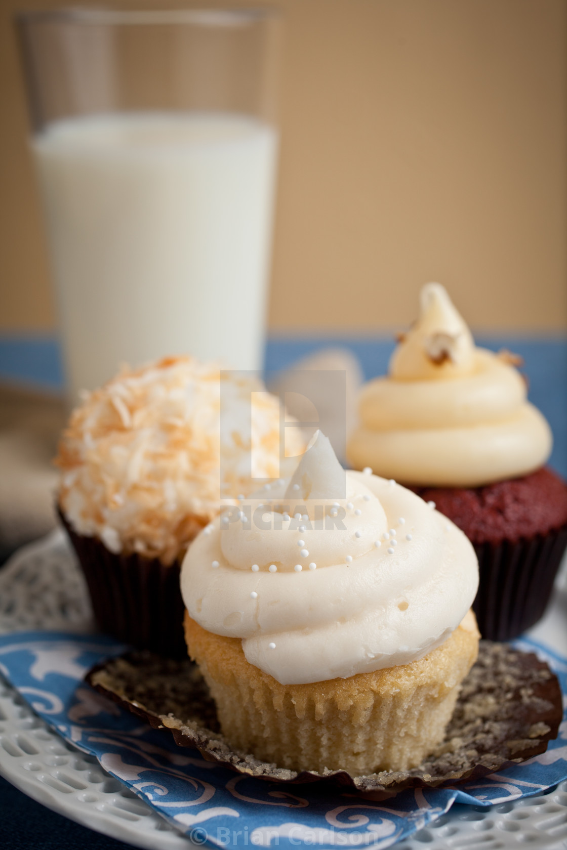 """cupcakes on plate"" stock image"