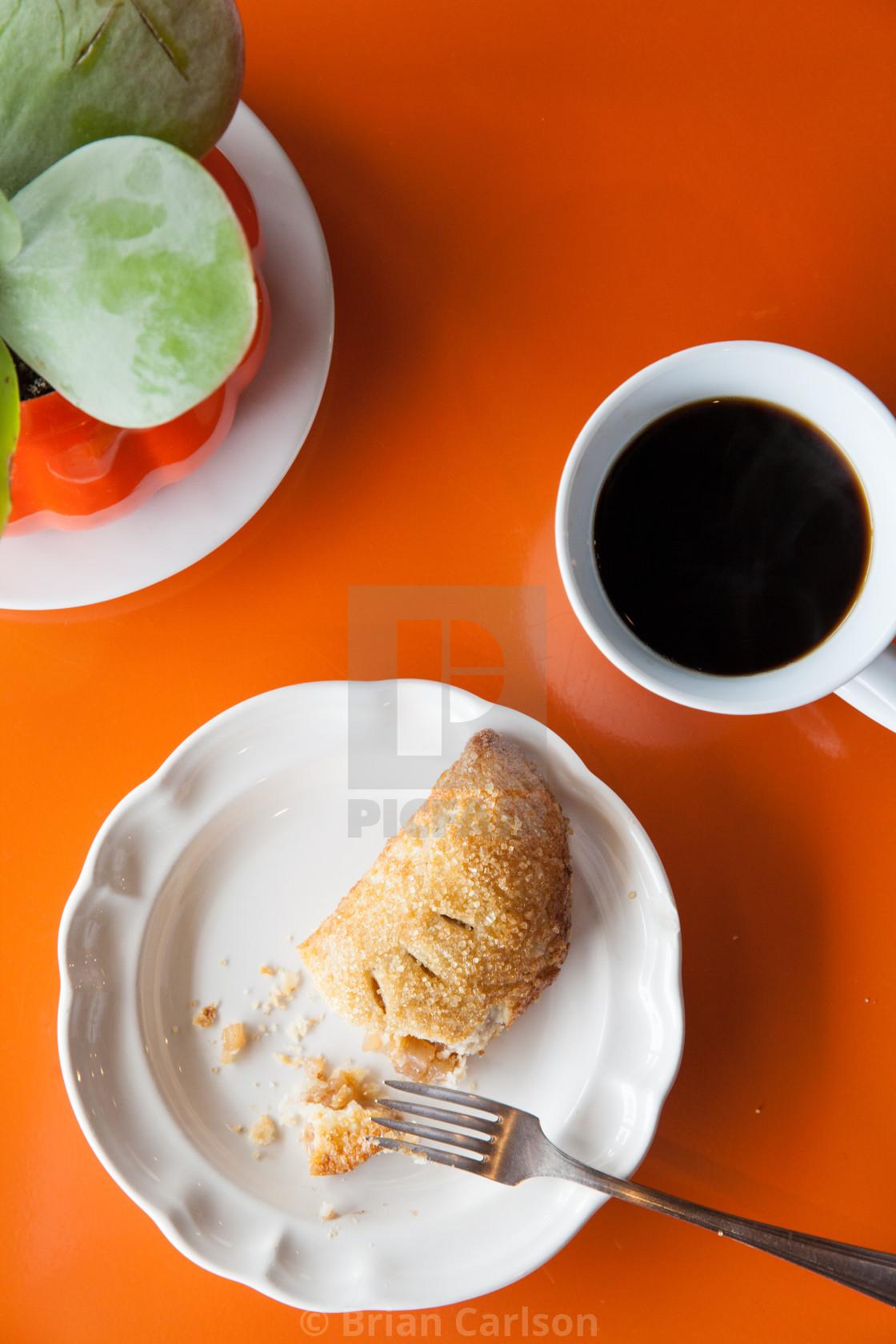"""Pie, coffee & succulent"" stock image"