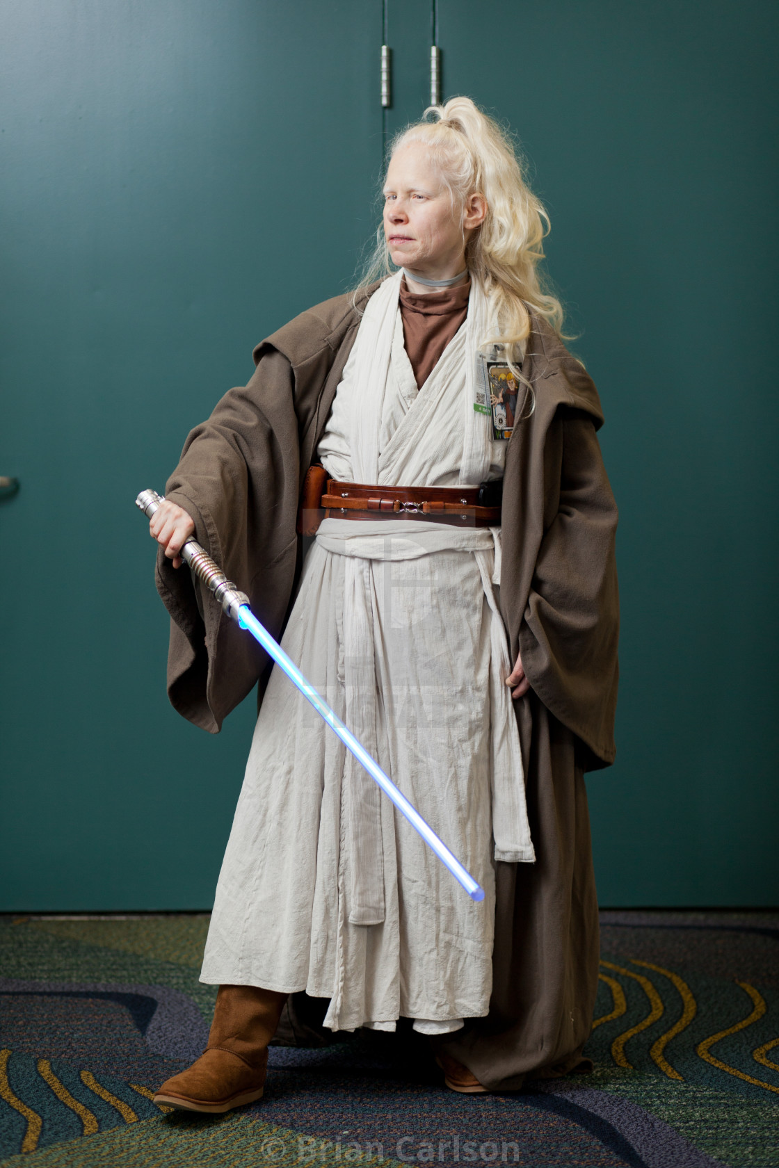 """""""Woman poses at Star Wars Celebration at Orange County Convention Center in..."""" stock image"""