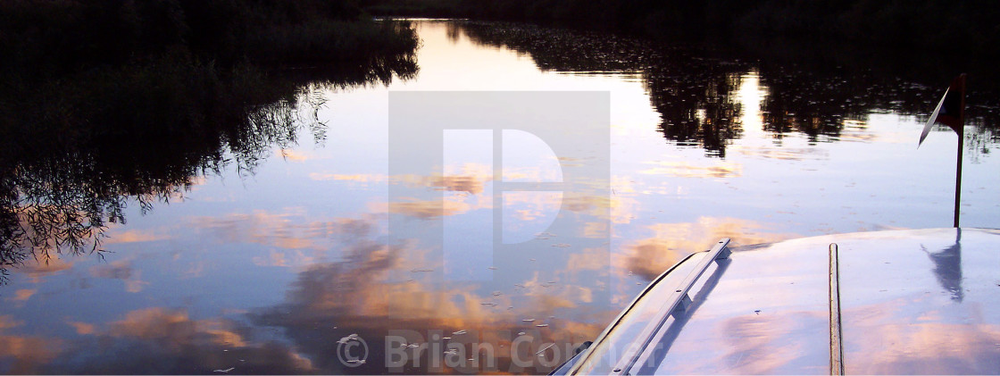 """Reflecting on The Broads"" stock image"