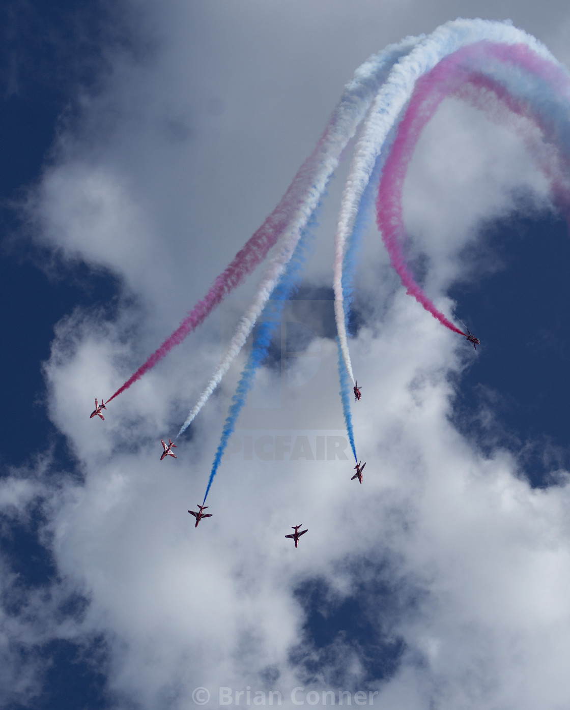 """Red Arrows Burst"" stock image"