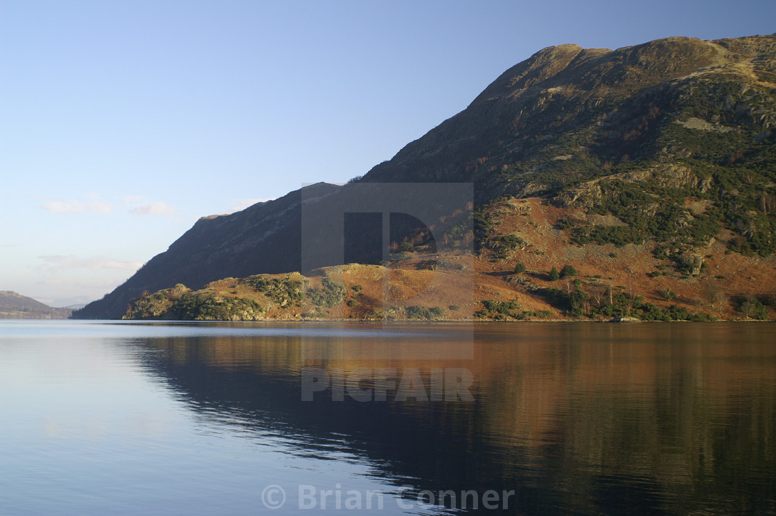 """Reflecting the Lake District"" stock image"