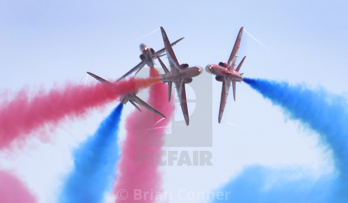 """RAF Red Arrows 'Gypo Break'"" stock image"