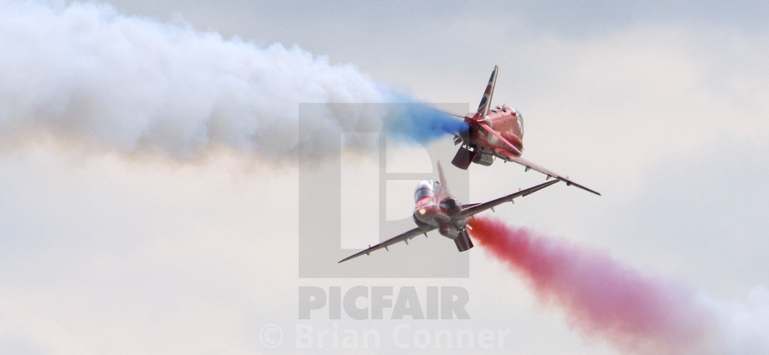"""RAF Red Arrows Synchro Pair"" stock image"