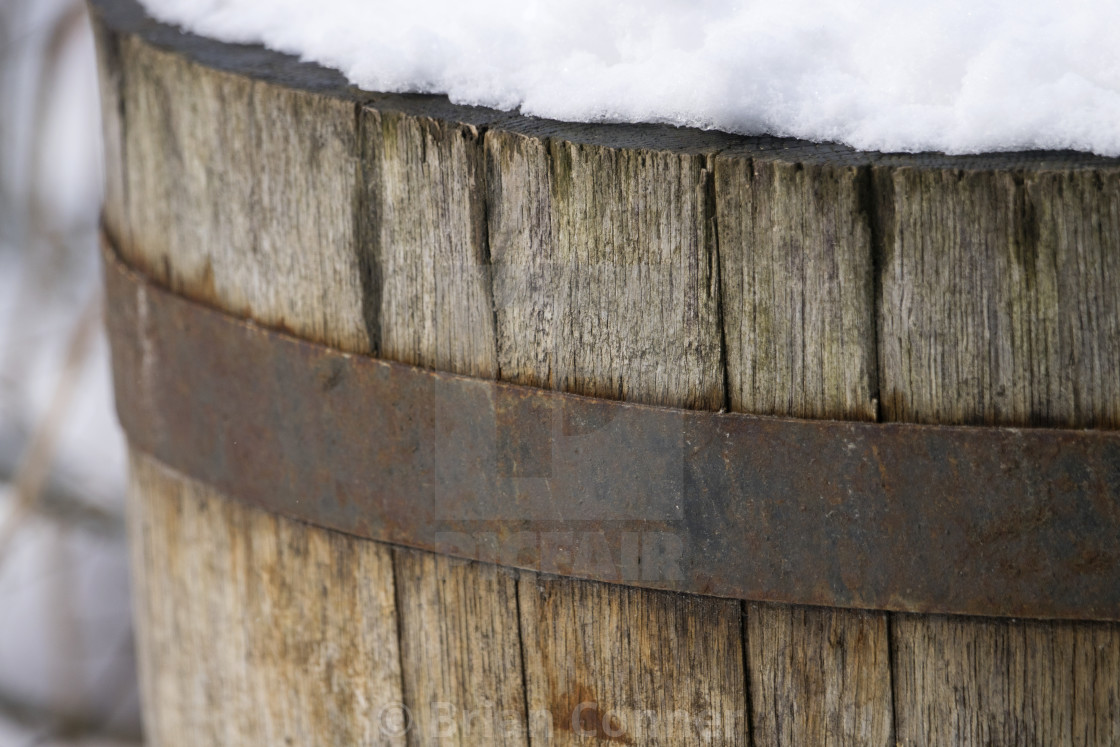 """Snowy Barrel"" stock image"