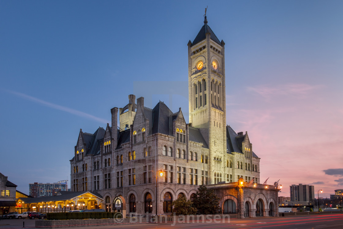 """Union Station - restored train station, now a luxury hotel, Nashville,..."" stock image"