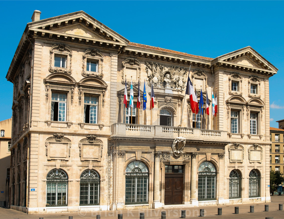 """Municipal Building, Marseille"" stock image"