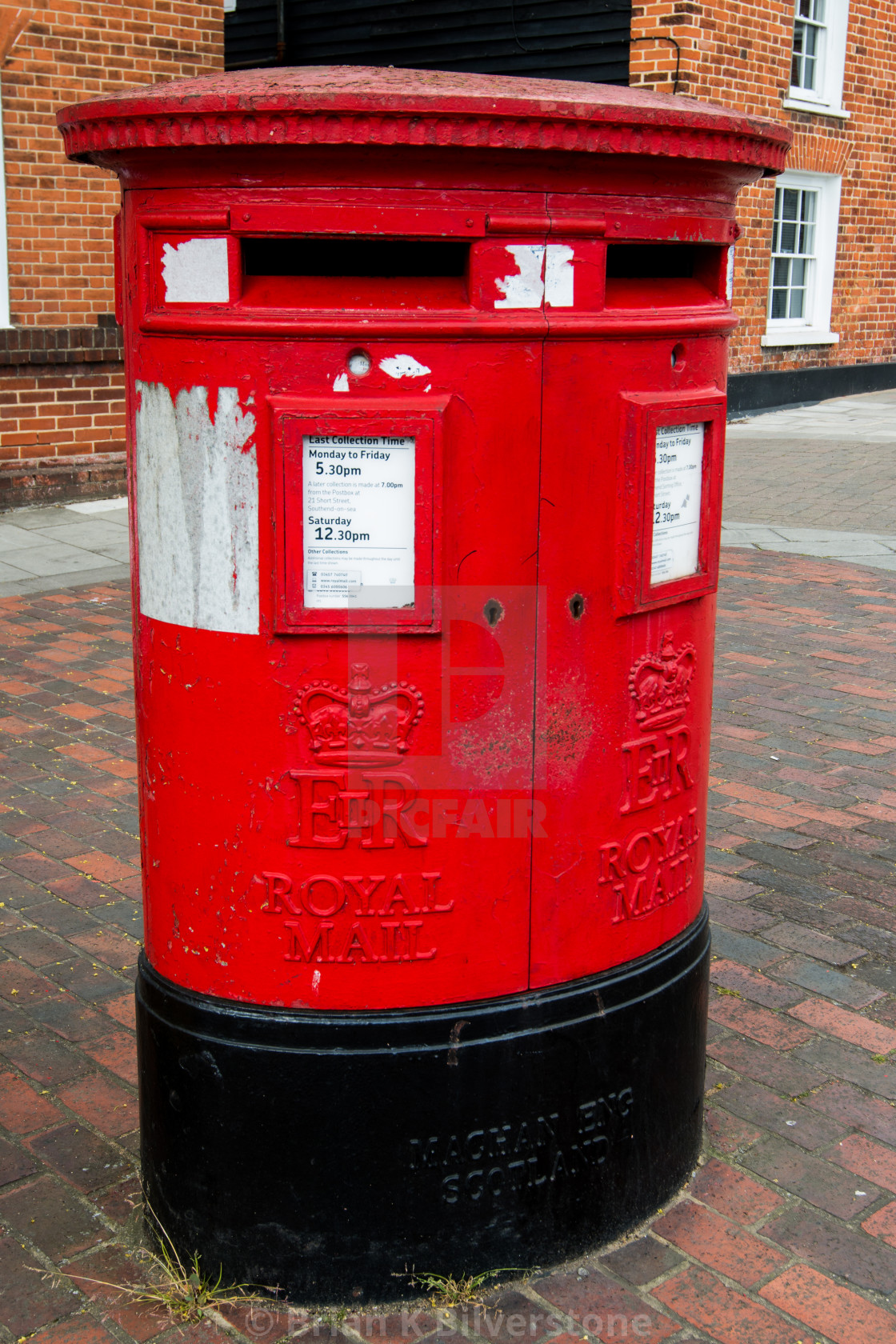 """Double Aperture Pillar Box"" stock image"
