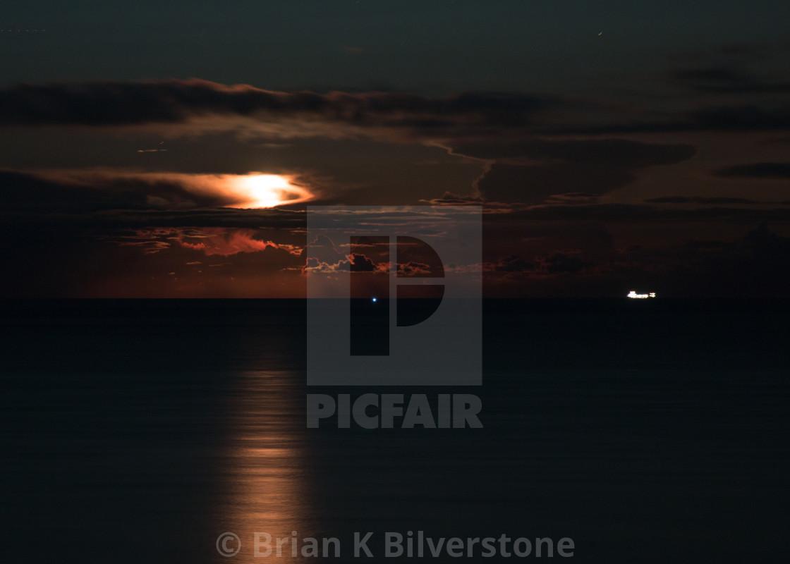 """Corton Moonrise"" stock image"