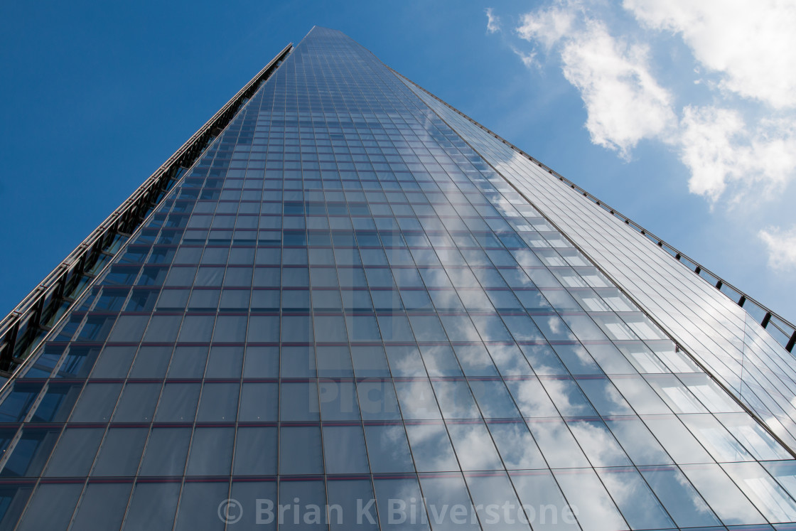 """Up The Shard"" stock image"