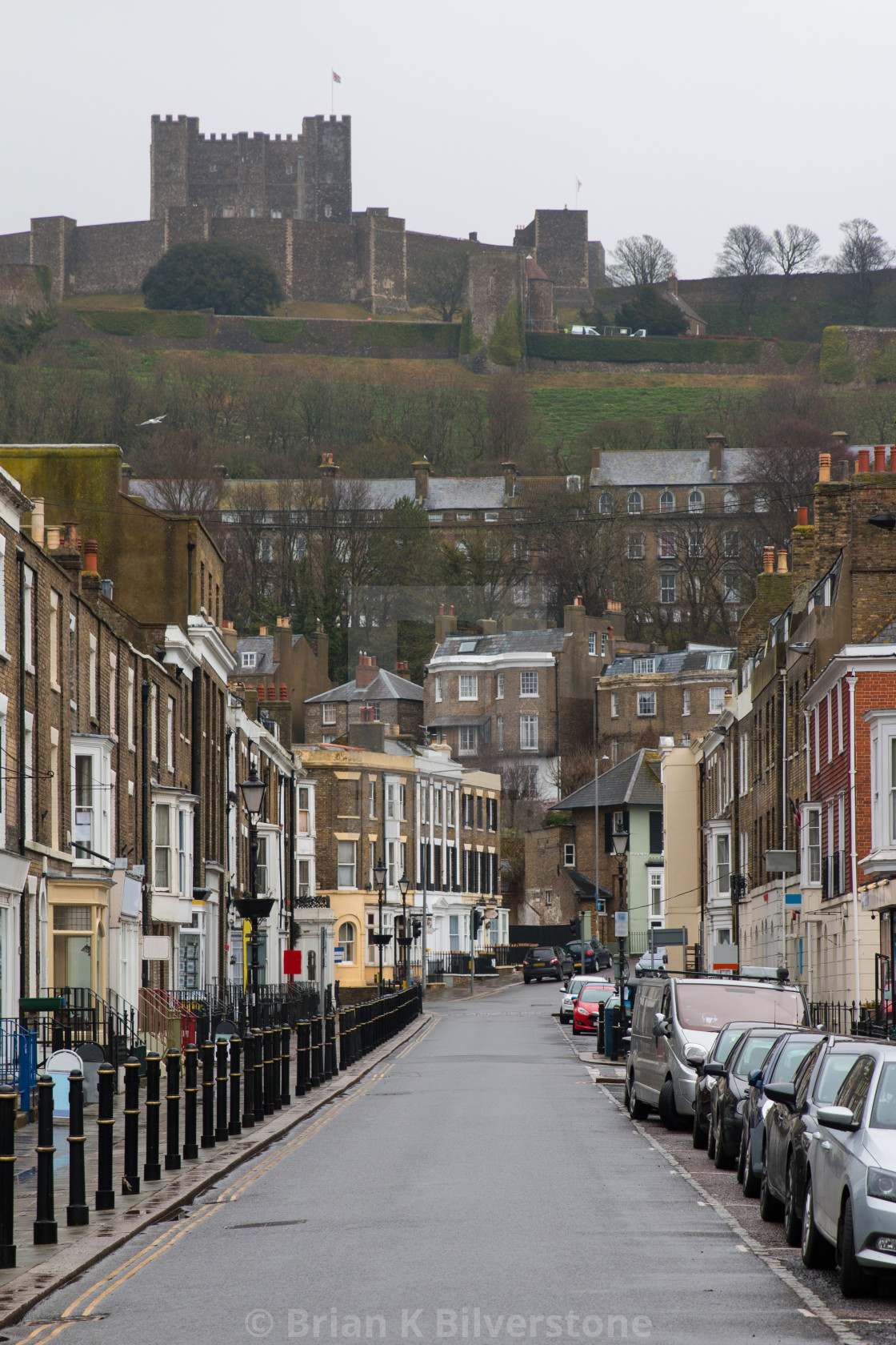 """Dover Town and Castle"" stock image"