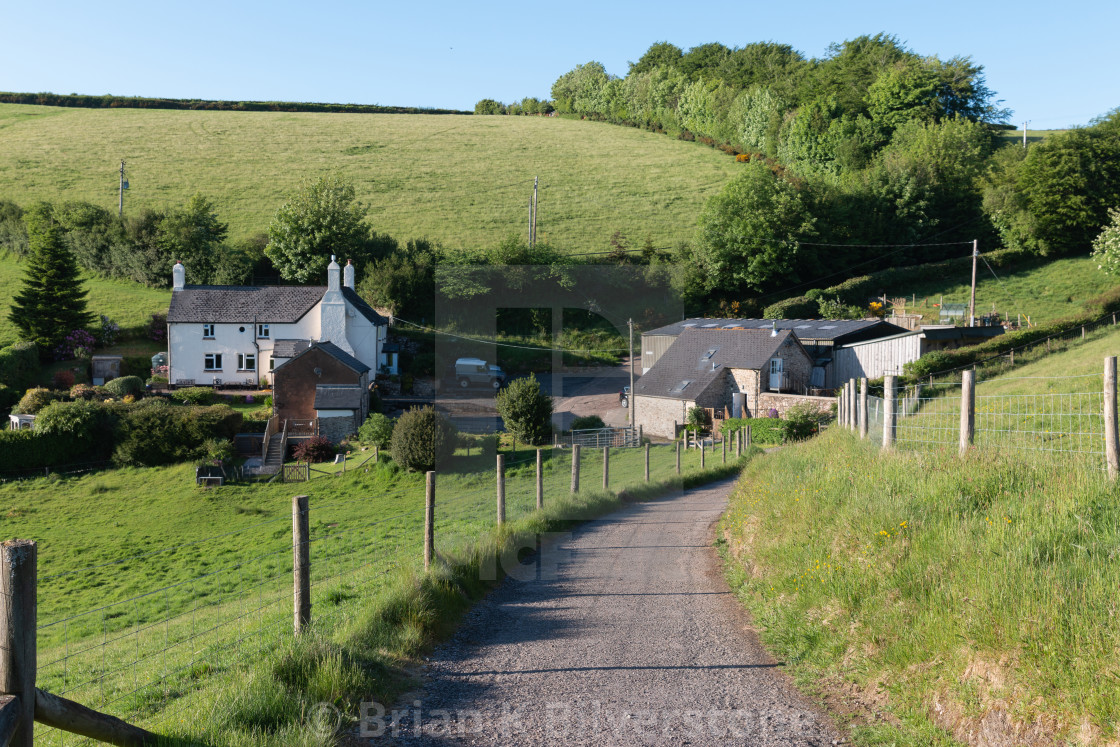"""An Exmoor Farm"" stock image"