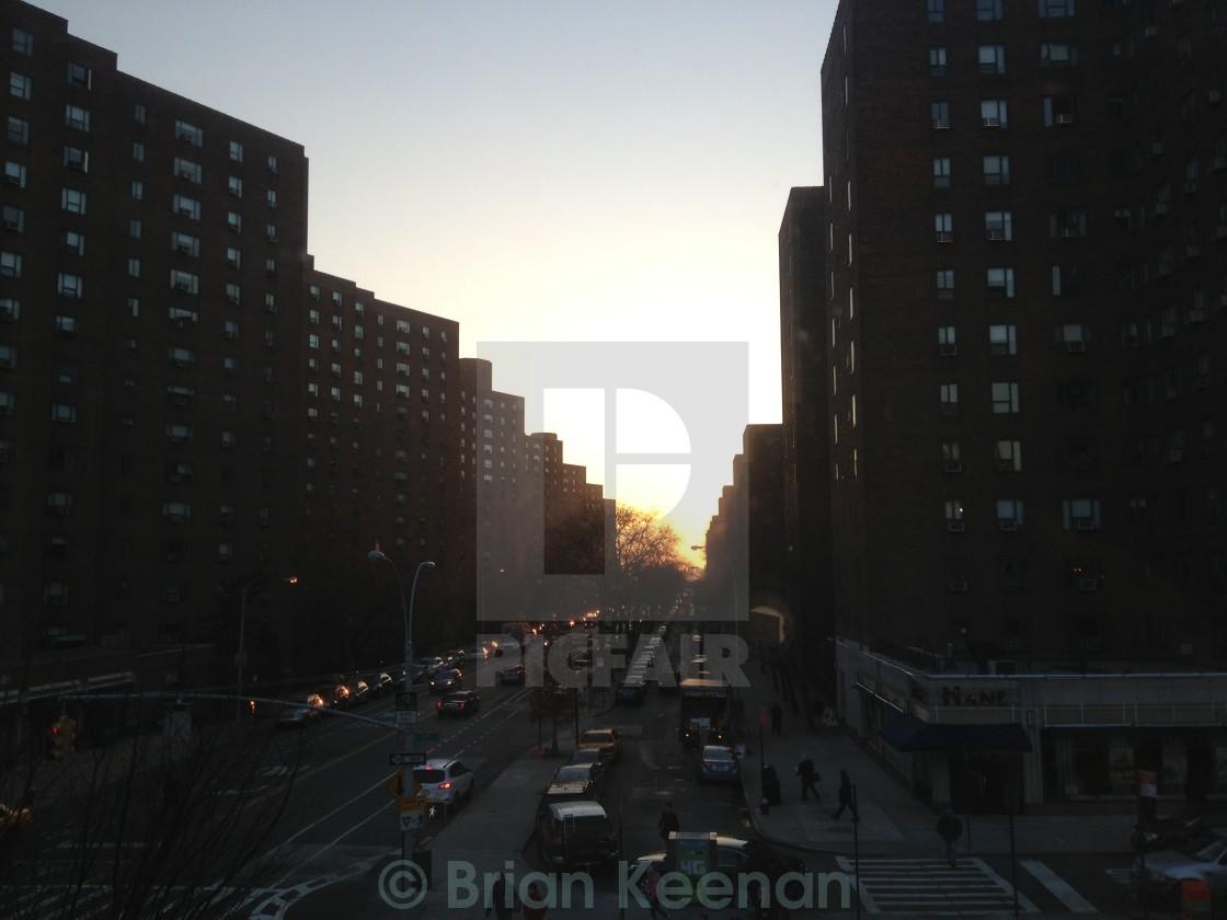 """New York Sunrise"" stock image"