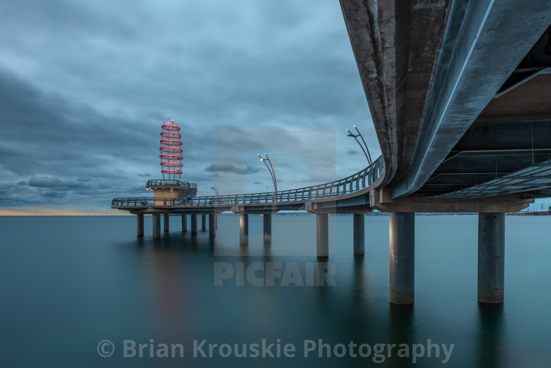 """Under the Brant Street Pier"" stock image"